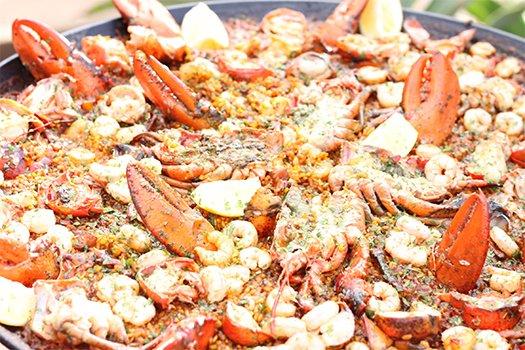 Meilleur catering à Ibiza fruits de mer paella