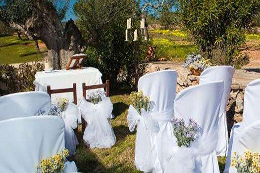Mariage jardin Ibiza