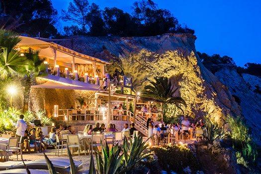 Restaurant plage Ibiza