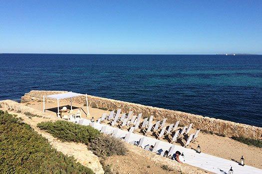 Sélection du site, plage Ibiza