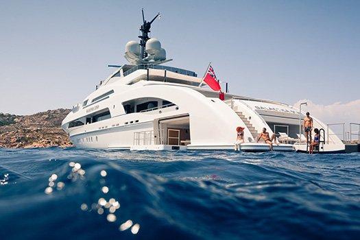 Service de transport, Yacht avec capitaine Ibiza